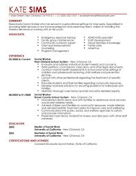 exles of a resume resume sle social worker hospital exles sevte