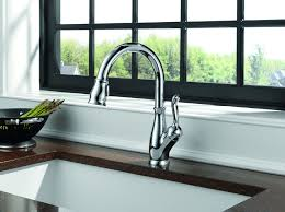 Kitchen Faucet Chrome - delta 9178 dst leland single handle pull kitchen faucet