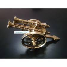 Handicraft Home Decor Items Buy Decorative Double Barrel Brass Cannon Showpiece Home Decor