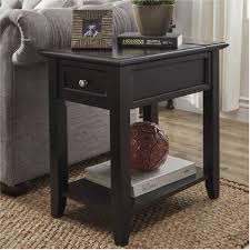 chelsea lane end table with power outlet multiple colors