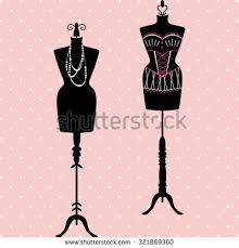 mannequin silhouette fashion dress form tailors stock vector
