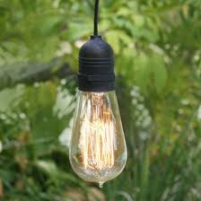 11ft single socket black commercial grade outdoor pendant light