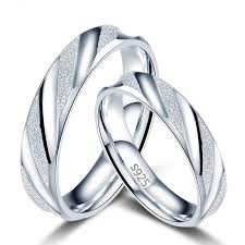 silver wedding ring couples wedding rings s925 silver engagement bands engraving rings