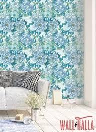 self adhesive wallpaper blue blue petunia pattern temporary wallpaper blue floral wallpaper