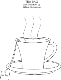 tea cup colouring pages coloring glum