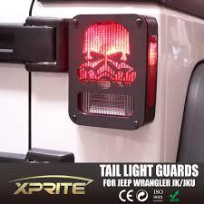 jeep wrangler brake light cover skull black rear taillight cover for 07 18 wrangler