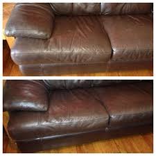 Leather Sofa Clean Before And After Cleaning Leather Couches Works Amazing 1 8 Cup