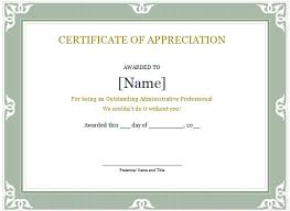 appreciation certificate templates free download free printable