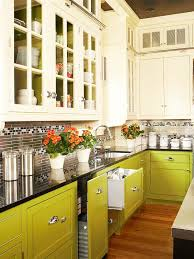 colorful kitchen cabinets ideas green kitchen cabinets better homes gardens