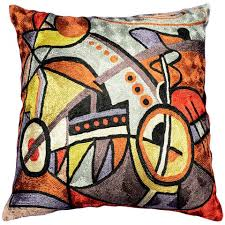 Decorative Pillows Modern Picasso City Cat Decorative Pillows Wool Cushion Throw Pillow