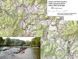 Tennessee River Map Cherokee Fishing Weirs