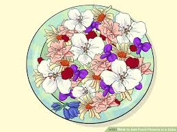 Where To Buy Edible Flowers - 3 ways to add fresh flowers to a cake wikihow