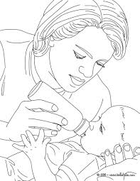 pediatric nurse bottle feeding born baby coloring pages