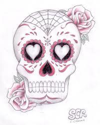 sugar skull n roses by steelchildrocks on deviantart