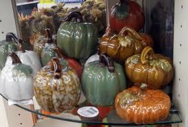 ceramic pumpkins fall at dollar tree dollar store crafts