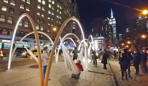 come swing on these holiday hammocks at the new flatiron sky line