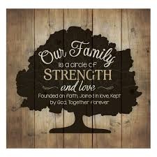 Family Home Decor Our Family Is A Circle Of Strength And Love