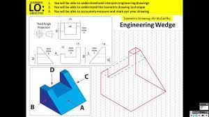Isometric Drawing Worksheets Isometric Wedge Youtube