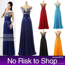 cheap sheer neck prom party dresses sequins a line royal blue