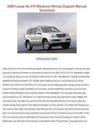 lexus gx470 tire pressure 2006 lexus gx 470 electrical wiring diagram m by meaganjewett issuu