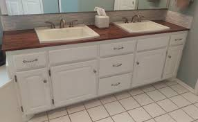 how to make a wooden countertop for your bathroom splendry