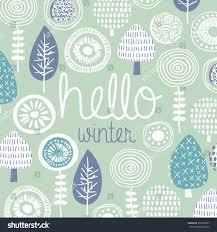 hello winter leaves flowers fall garden stock vector 307067867