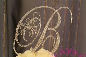 b cake topper wedding cake topper letter b monogram wedding cake topper letter