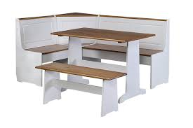 Dining Room Sets Bench Amazon Com Linon Ardmore Kitchen Nook Set Kitchen U0026 Dining