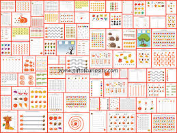 fall printables pack with more than 70 fall worksheets and
