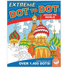 extreme dot to dot activity book around the world from mindware