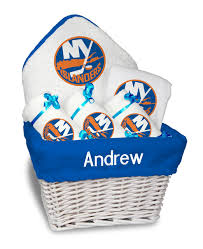 new york gift baskets personalized new york islanders medium gift basket mlb baby gift