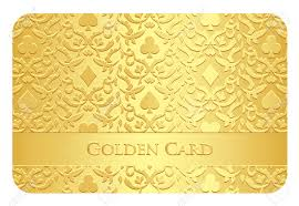 golden card with card symbols ornament royalty free cliparts