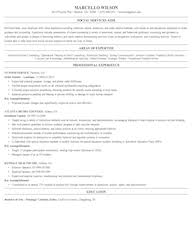 Social Work Resume Templates Entry Level Community And Social Service Resume Sles