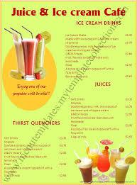 5 drink menu template procedure template sample