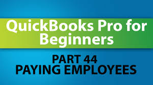 quickbooks training tutorial part 44 how to pay employees in