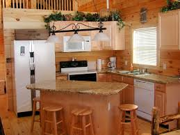 kitchen island rustic kitchen blue high ceiling one wall island