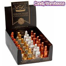 where to buy liquor filled chocolates foiled chocolate bottles with liquor filling 24 display