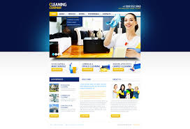 website template 36105 cleaning company services custom website