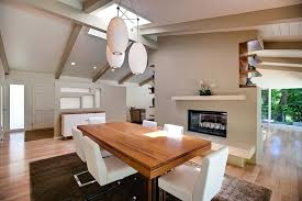 dining room white chairs mid century modern dining room with