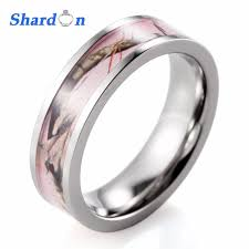 does the woman buy the s wedding band aliexpress buy shardon women ring titanium pink real tree