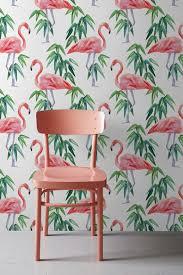 removable wallpaper uk pink flamingo wallpaper tropical removable wallpaper exotic
