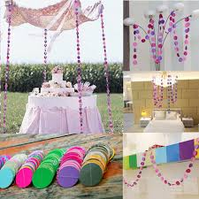 Hanging Decor From Ceiling by 4m Hanging Paper Garland Chain Wedding Birthday Party Ceiling