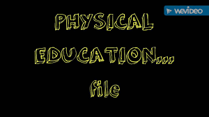 physical education project file of class 12th for all stream