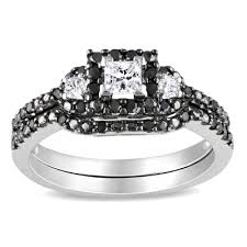 black engagement rings zales 1 2 ct t w enhanced black and white princess cut frame