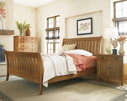 stickley mission sleigh bed craftsman bedroom new york by
