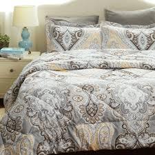 Down Alternative Comforter Sets 2017 New Arriva Grey Paisley Design Down Alternative Comforter