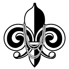 fleur de lis mardi gras mardi gras fleur de lis with stock vector image 48458311