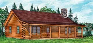 ranch style log home floor plans log home floor plans