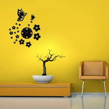 3d wall clocks unique butterfly and flowers design mirror face image image image image image image image image image