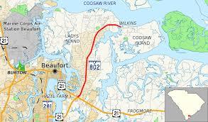 Map Of Beaufort Sc South Carolina Highway 802 Wikipedia